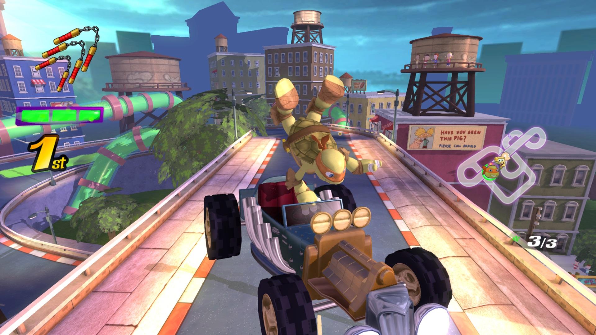 Скриншот №1 к Nickelodeon Kart Racers