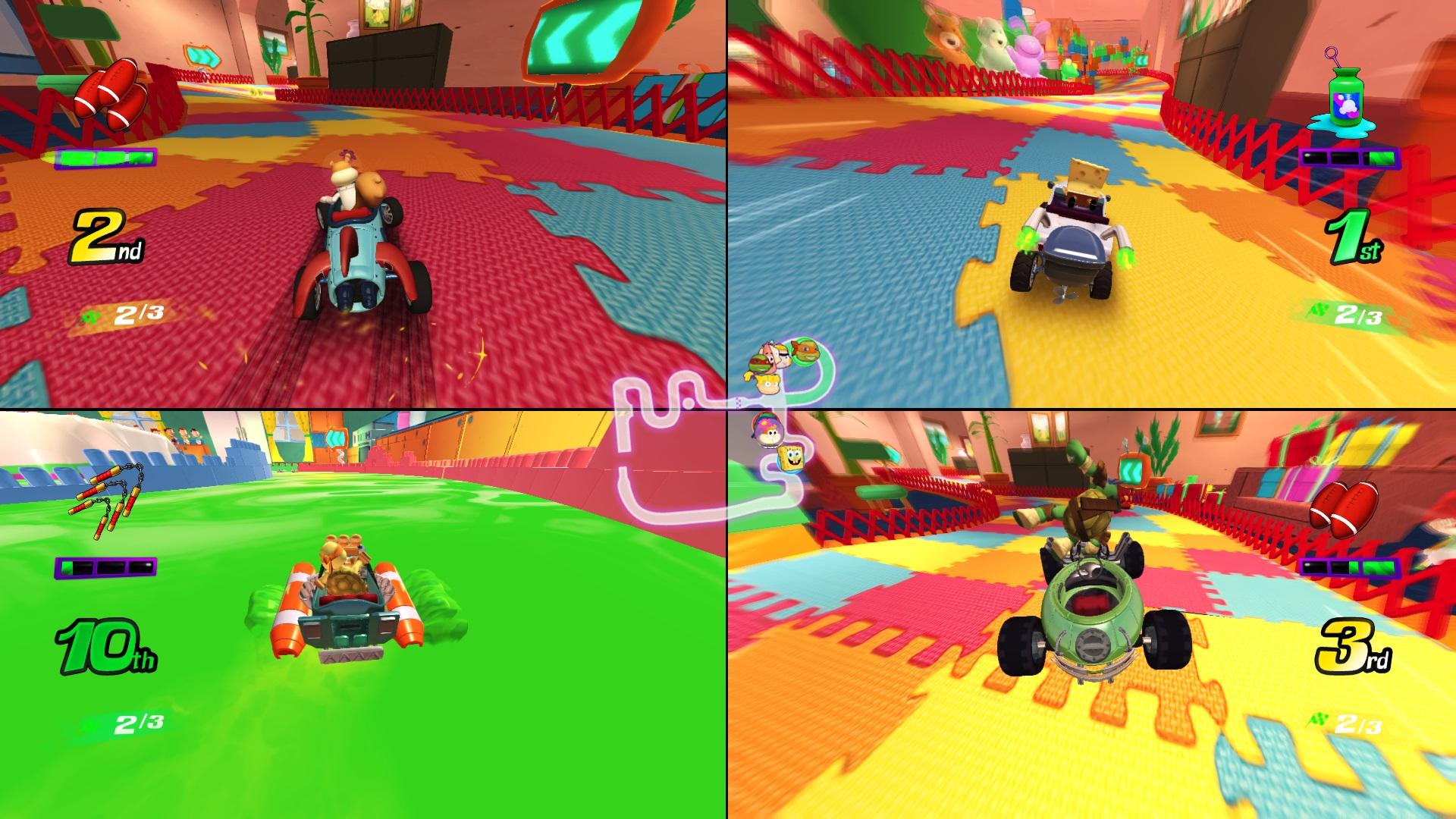Скриншот №4 к Nickelodeon Kart Racers