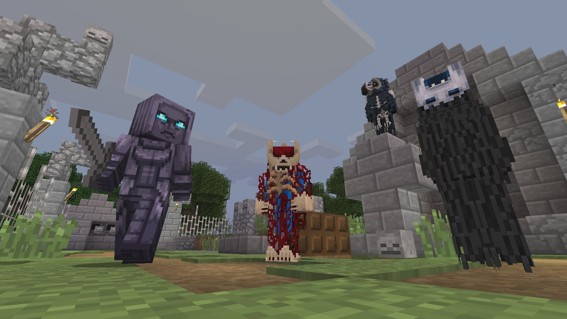 Minecraft: From the Shadows Skin Pack on PS4 | Official